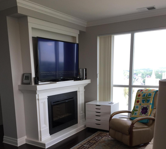 Is It Safe To Mount Your Tv Above The Fireplace Chimney