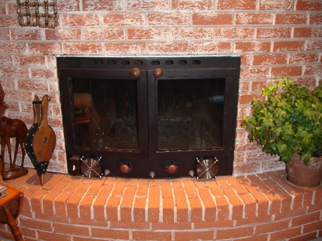 metal prefabricated fireplace